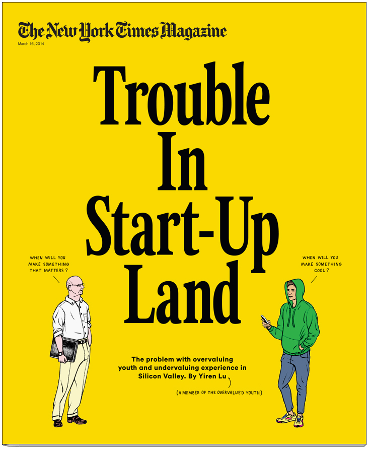 The New York Times Magazine - cover - Trouble in Start-Up Landp - Tim Enthoven